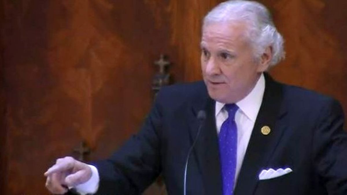 South Carolina Gov. Henry McMaster delivers his State of the State address on Jan. 13, 2021.