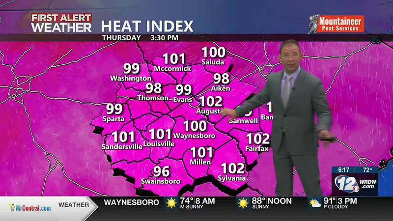 Hot and Humid, Tracking Fred