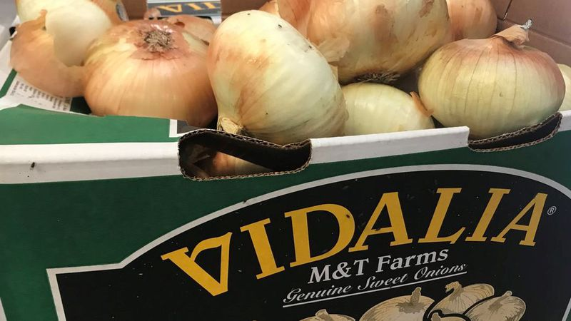 Georgia's signature sweet onions may be a little smaller and a little more expensive this year.