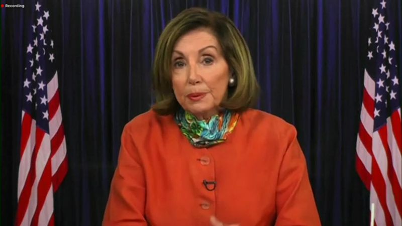 House Speaker Nancy Pelosi said last week in a letter to colleagues that she had sent a new...