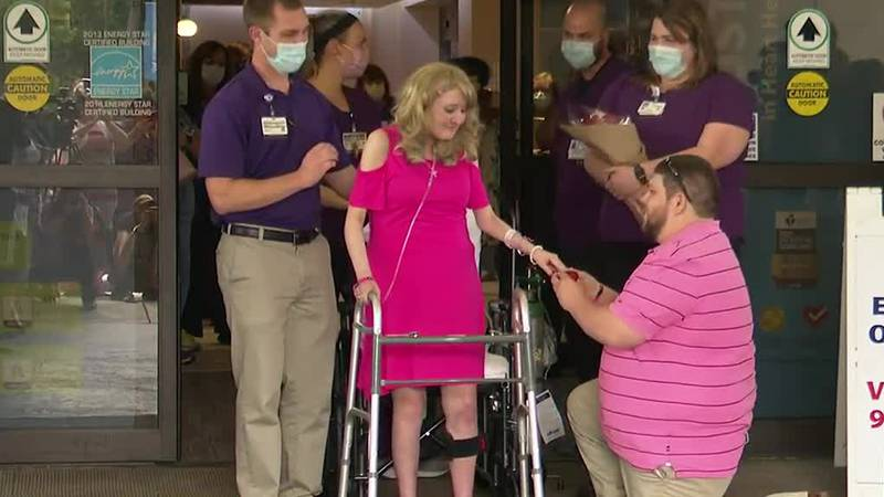 Today 30-year-old Brittany Dick stepped out of a hospital for the first time in eight months....