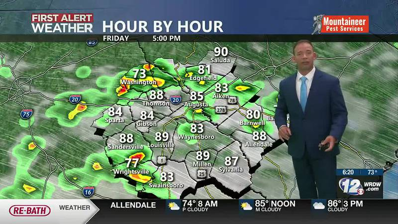 Isolated Storms, Weekend Heat
