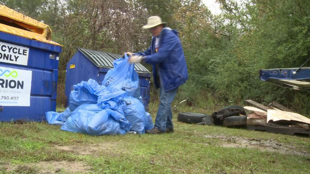 It's a scene that's getting all too familiar with volunteers: trash, garbage, and plastic scattered throughout our local waterways and watersheds. (Source: WRDW)