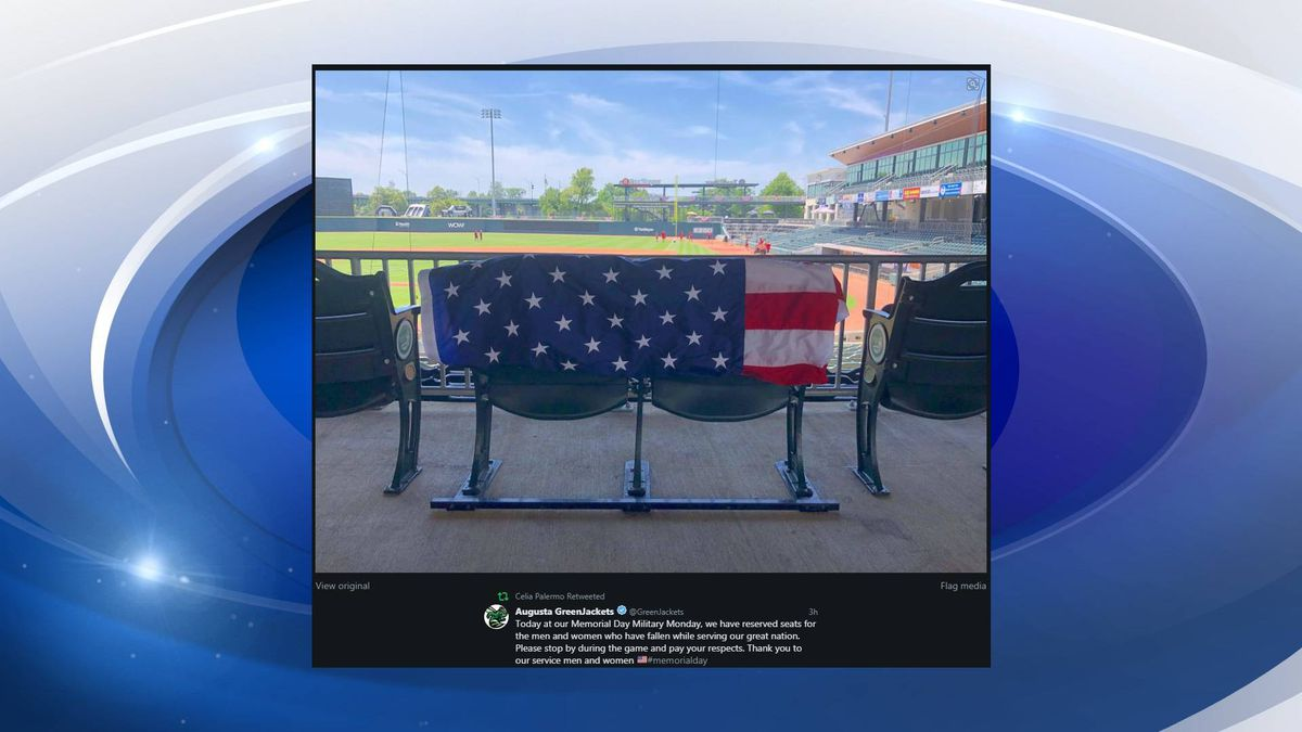 SRP Park is honoring Memorial Day with two seats blocked off to the men and women who died while in service of the United States. (Source: Twitter)