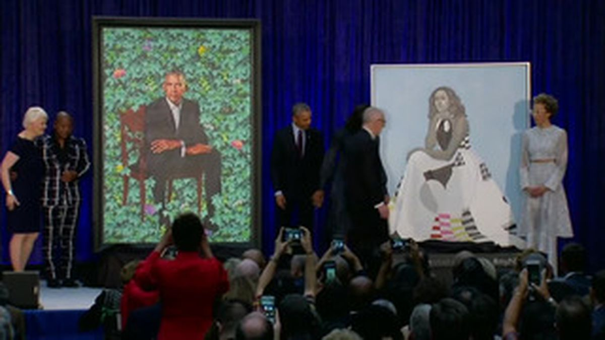 The official portraits of former President Barack Obama and former first lady Michelle Obama are coming from the National Portrait Gallery. (Source: CNN)