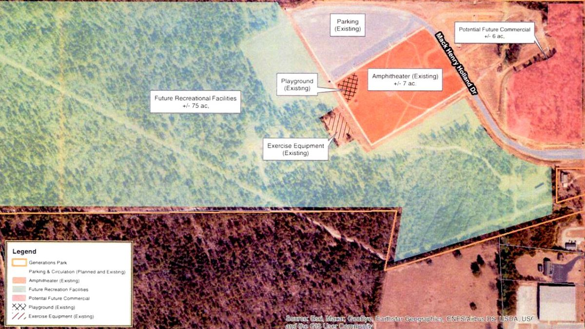 This the the plan for Aiken's Generations Park.