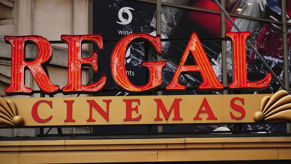 FILE – This Aug. 21, 2020 photo shows a Regal Cinemas location in New York City.
