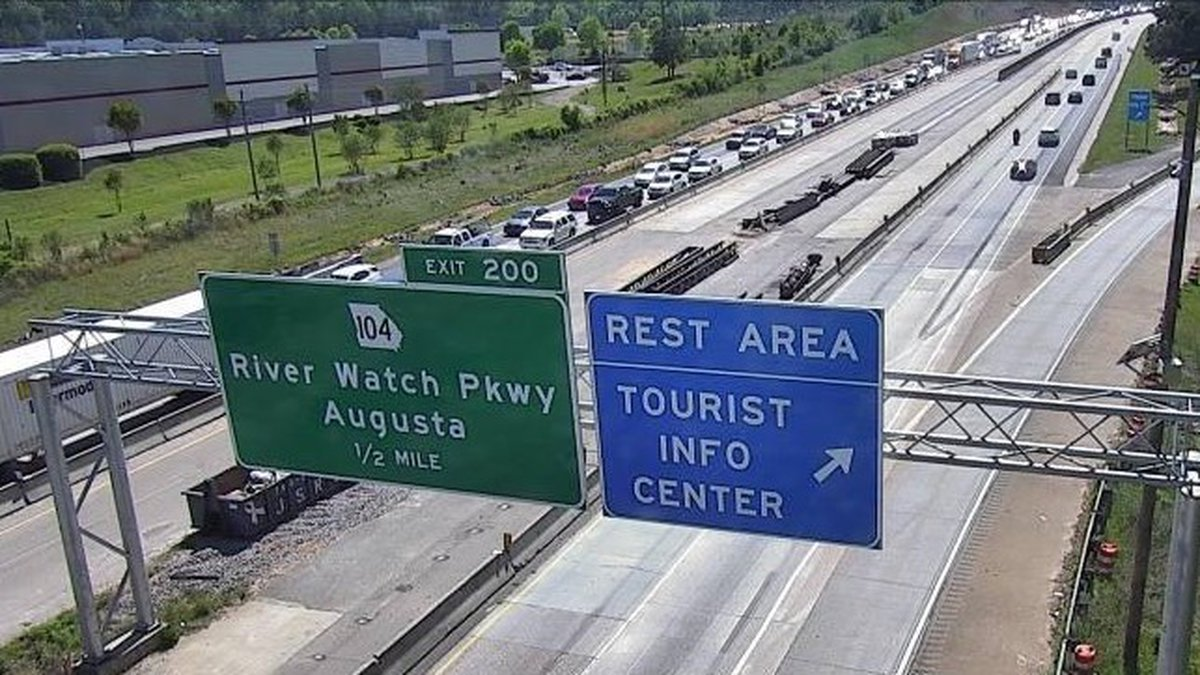 Eastbound traffic on I-20 was at a standstill Monday afternoon after a crash just across the...