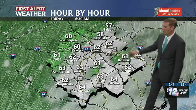 Cooler mornings and lower humidity