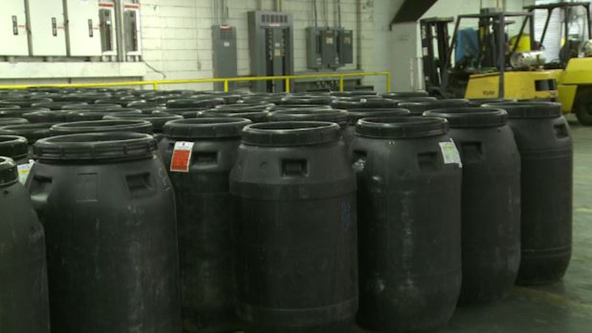 These previously used barrels can now get a second chance at life thanks to Repurposed Materials in Williston. (Source: WRDW)