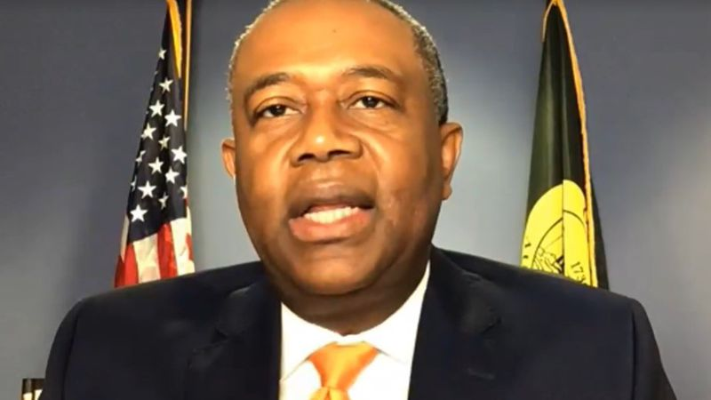 Augusta Mayor Hardie Davis Jr. participates in a virtual news conference on vehicle pollution.