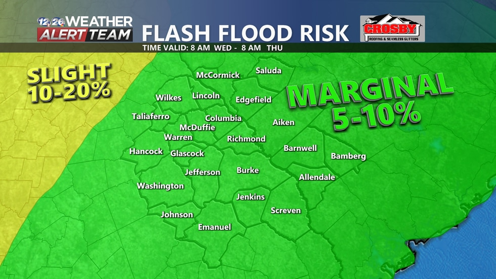 What's left of Sally will bring heavy rain to the CSRA Wednesday through Friday.