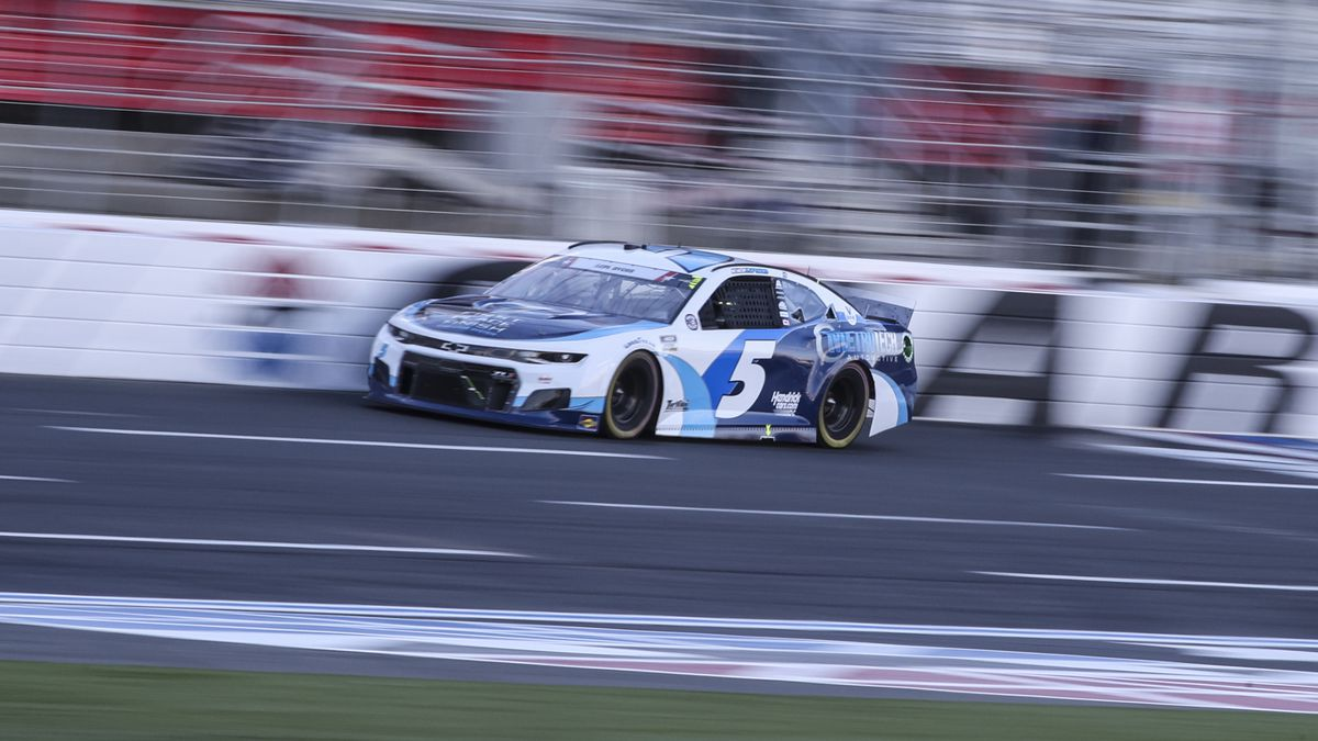 NASCAR Cup Series driver Kyle Larson drives in the NASCAR Cup Series auto race at Charlotte...