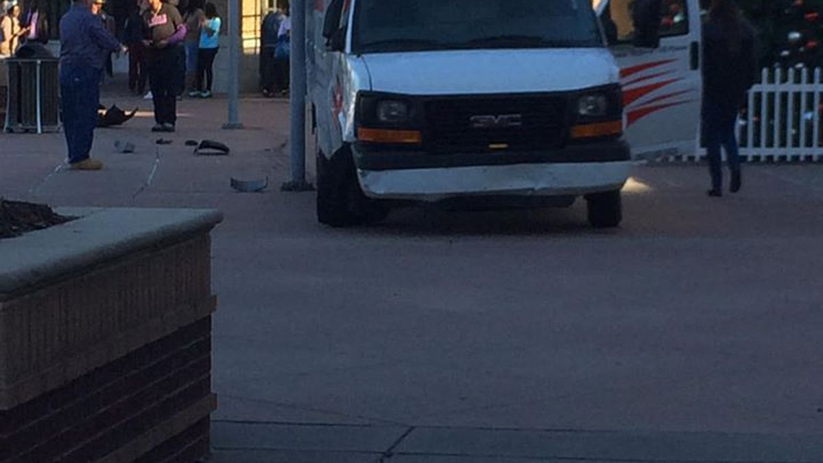 Richmond County dispatch says a UHAUL hit multiple vehicles as it drove onto the sidewalk at Augusta Mall. (Source: Michelle Goodwin)