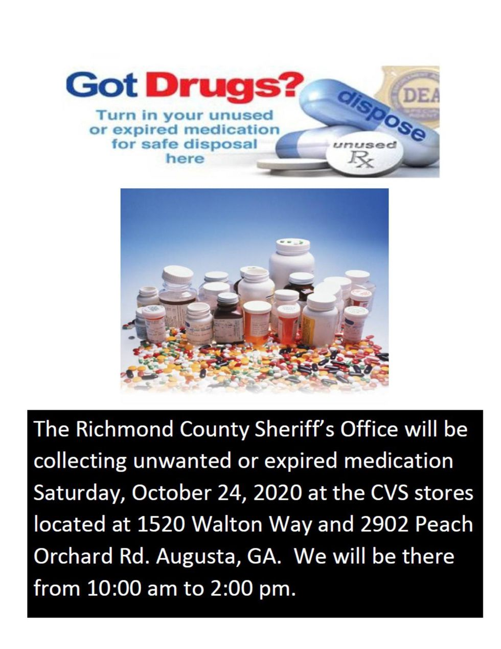 The Richmond County Sheriff's Office is hosting an event where the community can dispose of...