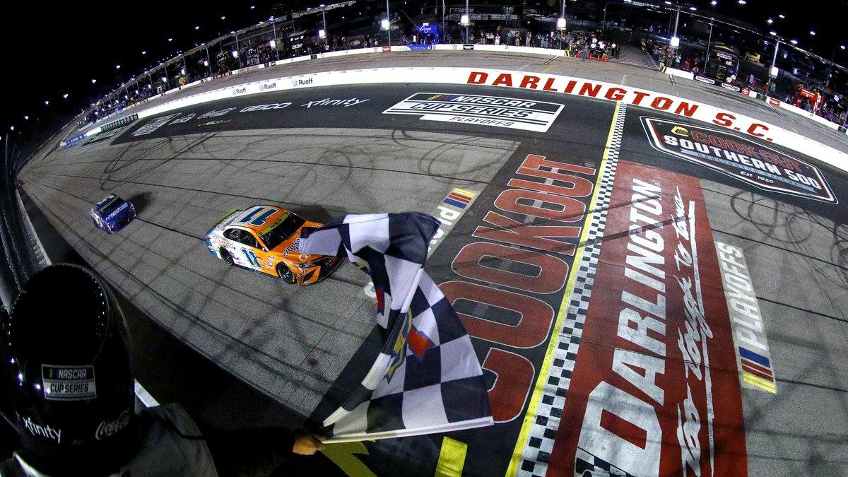 DARLINGTON, SOUTH CAROLINA - SEPTEMBER 05: Denny Hamlin, driver of the #11 Offerpad Toyota,...