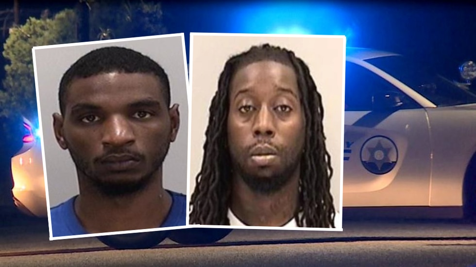 Michael Lockhart (left) and Andre Wooden (right) are each wanted for aggravated assault...