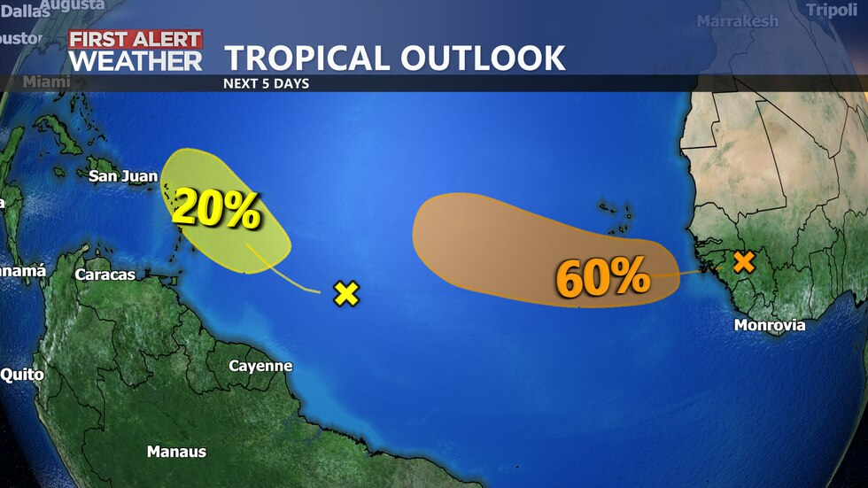 Tropical Outlook over the next 5 days.