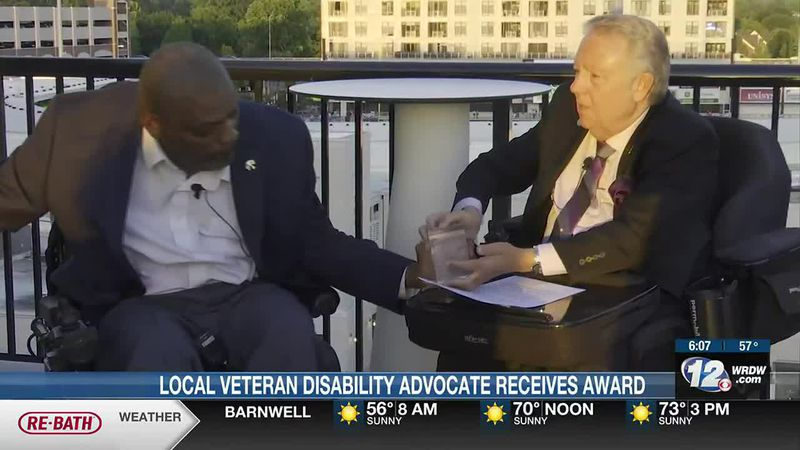 Local disability advocate receives award for service towards his fellow vets