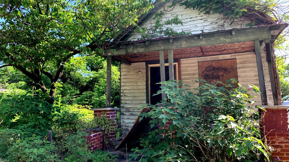 The city of Augusta considers this shotgun-style house a blighted property.