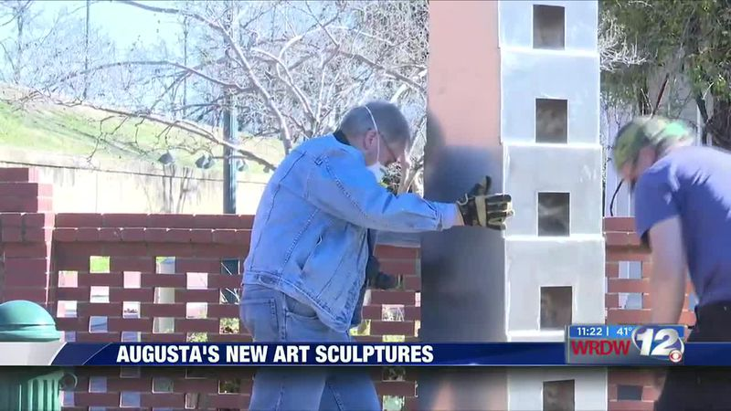 Augusta's new art sculptures