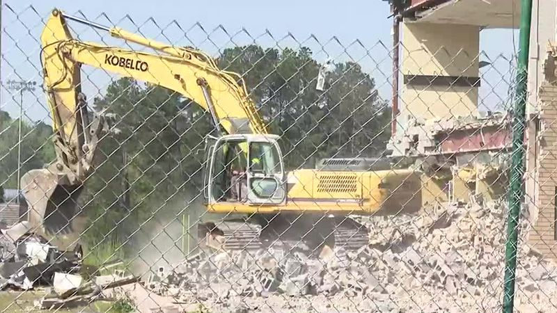 Chapel and Son Clearing and Demolition have torn down the North Augusta High School gym which...