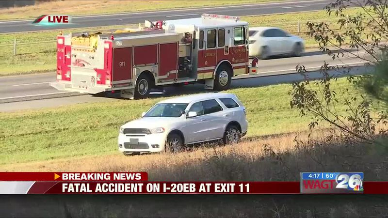 Fatal accident reported on I-20 eastbound at exit 11