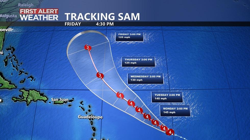 Tracking Hurricane Sam