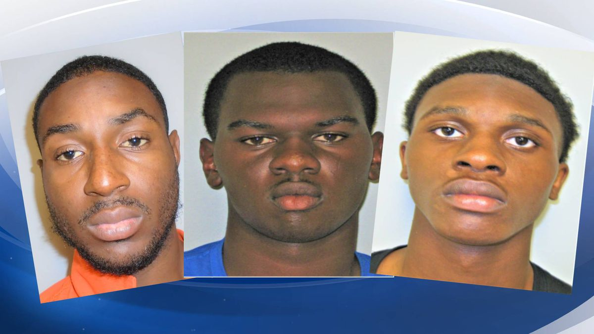 Jason Brigham Jr. (left) has been arrested. Marquel Bynes, 18 and Keon Flemming, 19, (middle...