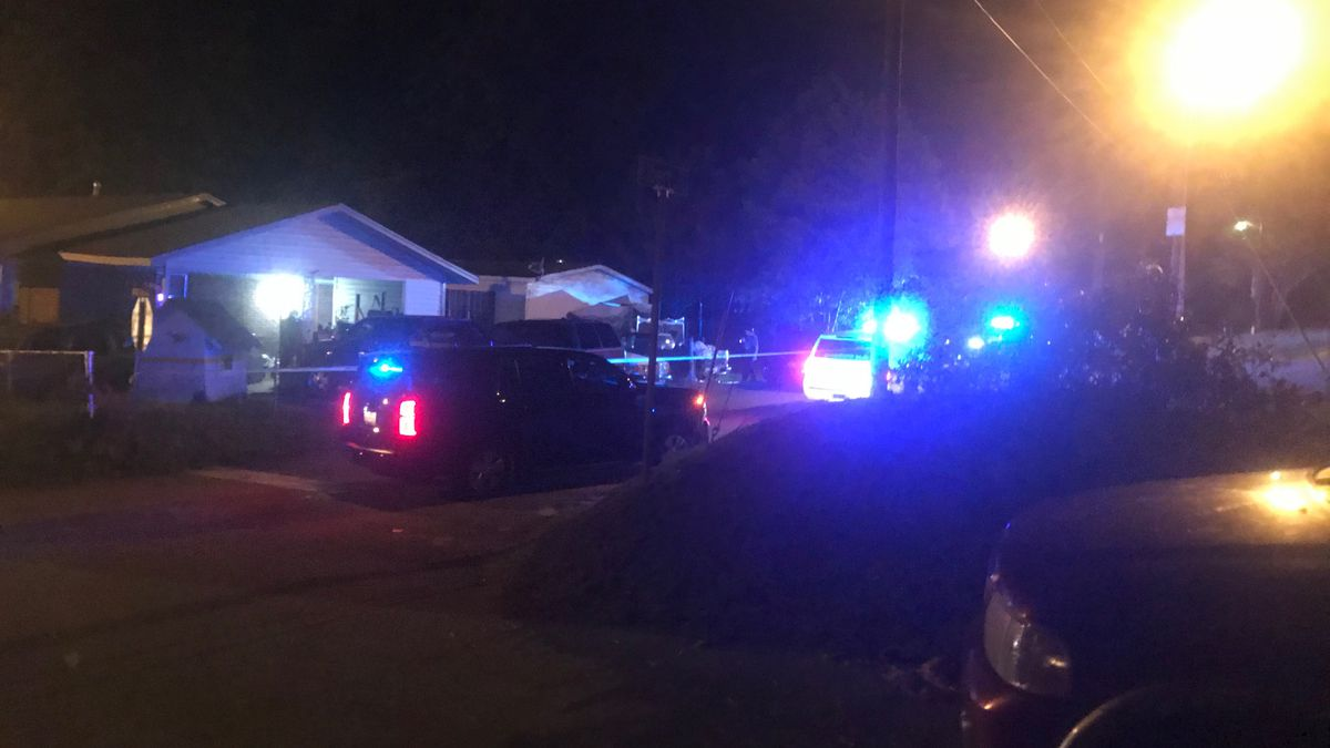 Two people were shot inside a vehicle on Elbert Street Sunday evening.