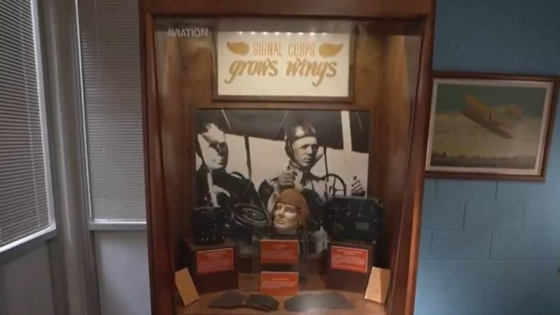This is among the exhibits of the Fort Gordon museum.