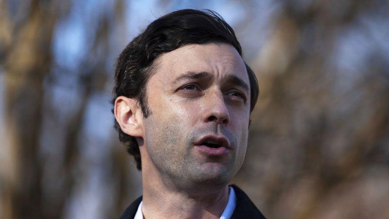 CORRECTS CITY TO ATLANTA Democratic U.S. Senate challenger Jon Ossoff speaks to the media at...