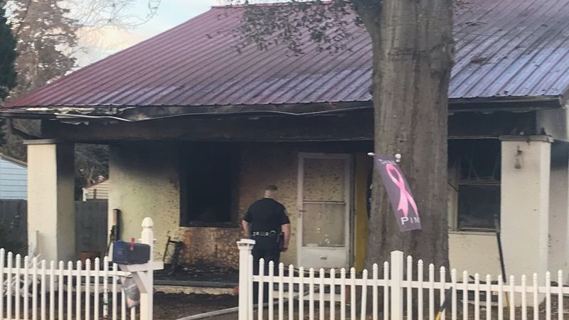 North Augusta fire crews worked to put out a fire at a home on West Clifton Avenue Sunday...