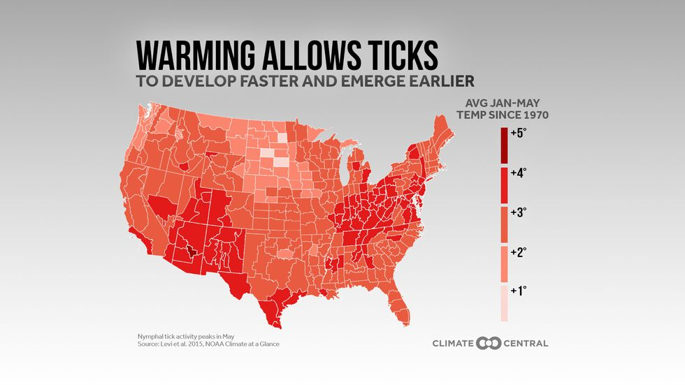 Warmer average temperatures in between January and May since 1970 have made conditions more...