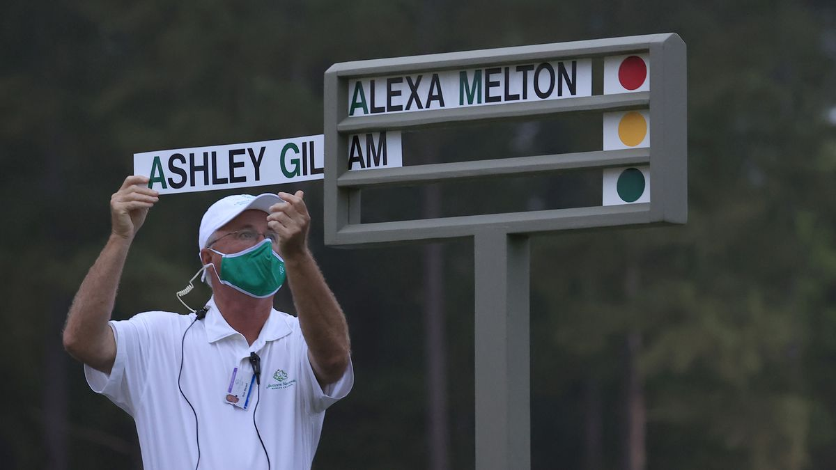 The names of Alexa Melton and Ashley Gilliam of the United States are posted to open Round 1 of...