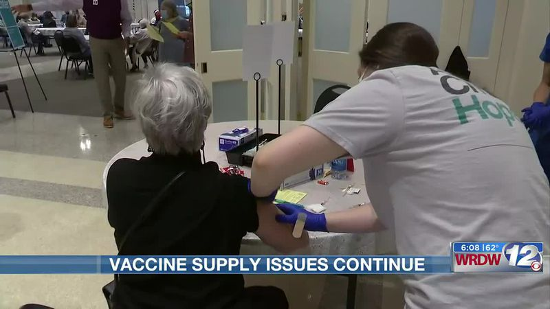 Vaccine supply issues continue in CSRA