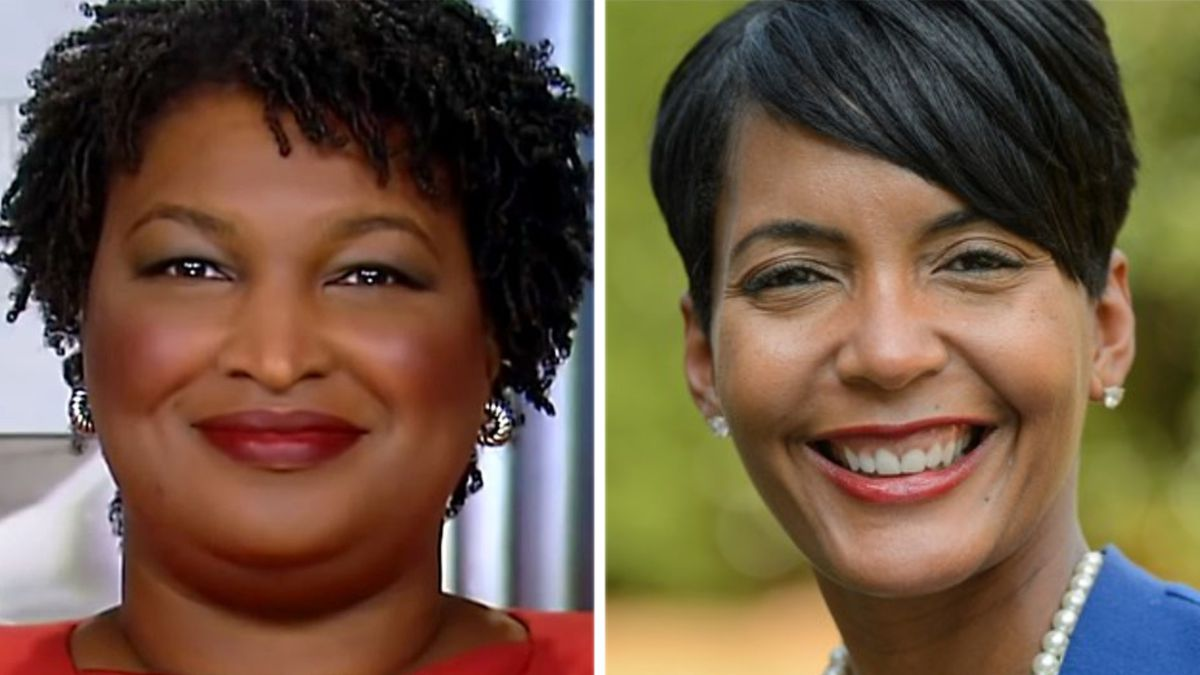 From left: Stacey Abrams and Keisha Lance Bottoms