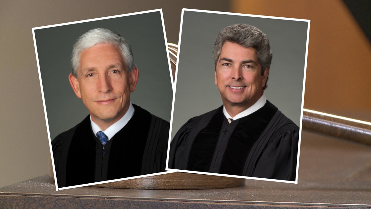 Justice David Nahmias (left) and Justice Michael Boggs (right).