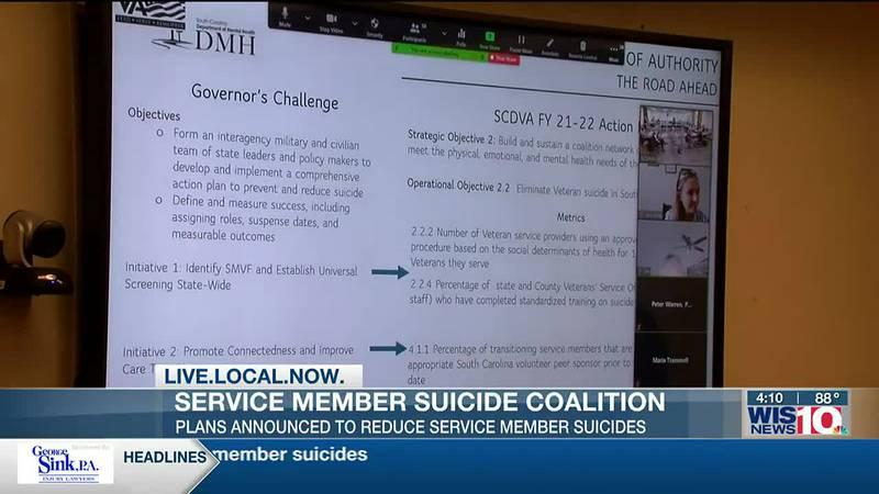 Coalition of SC agencies announces plan to reduce service member suicides