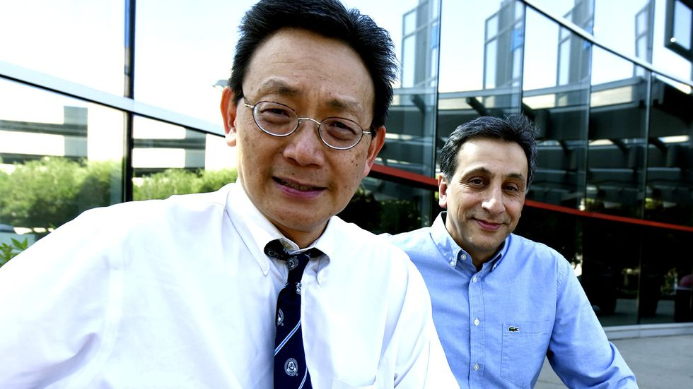 Drs. Jack Yu (left) and Babak Baban of Augusta University.