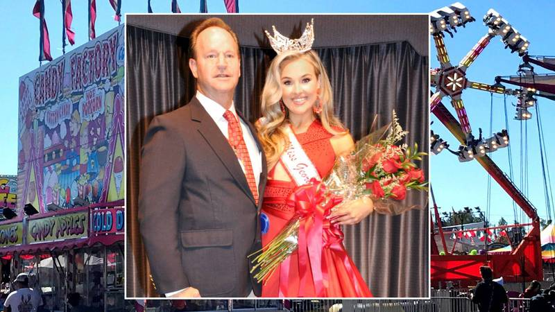 From right: 2021 Miss Georgia Carolina State Fair Davis Wash and Fair Queen and Exchange Club...