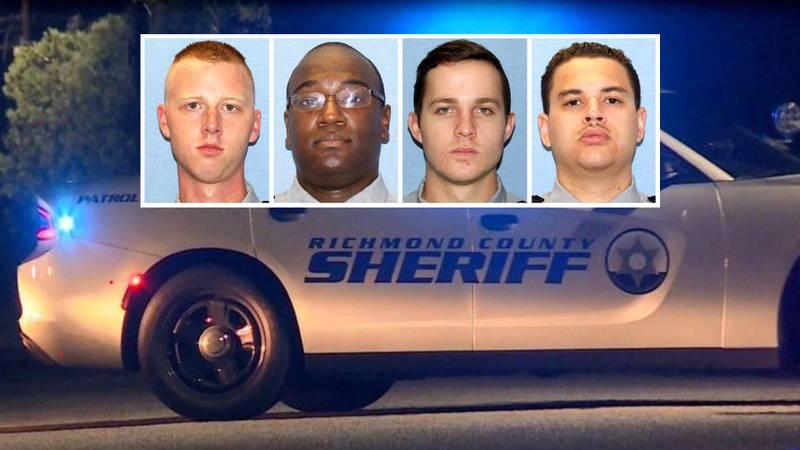 From left: Investigator Richard Russell, Deputy Leslie Gaiter, Deputy Parker Leathers, Deputy...