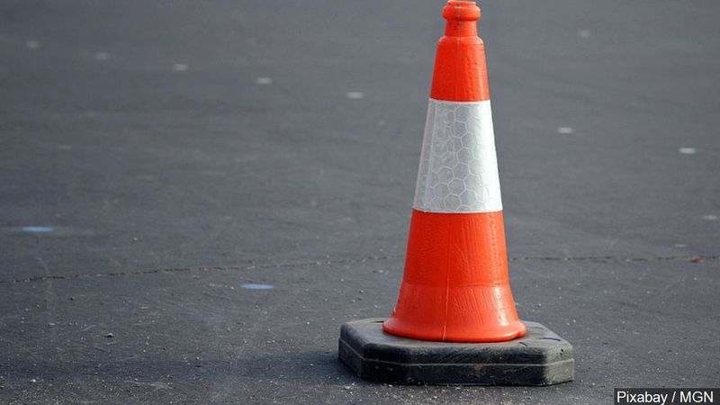 Traffic cone for road construction.