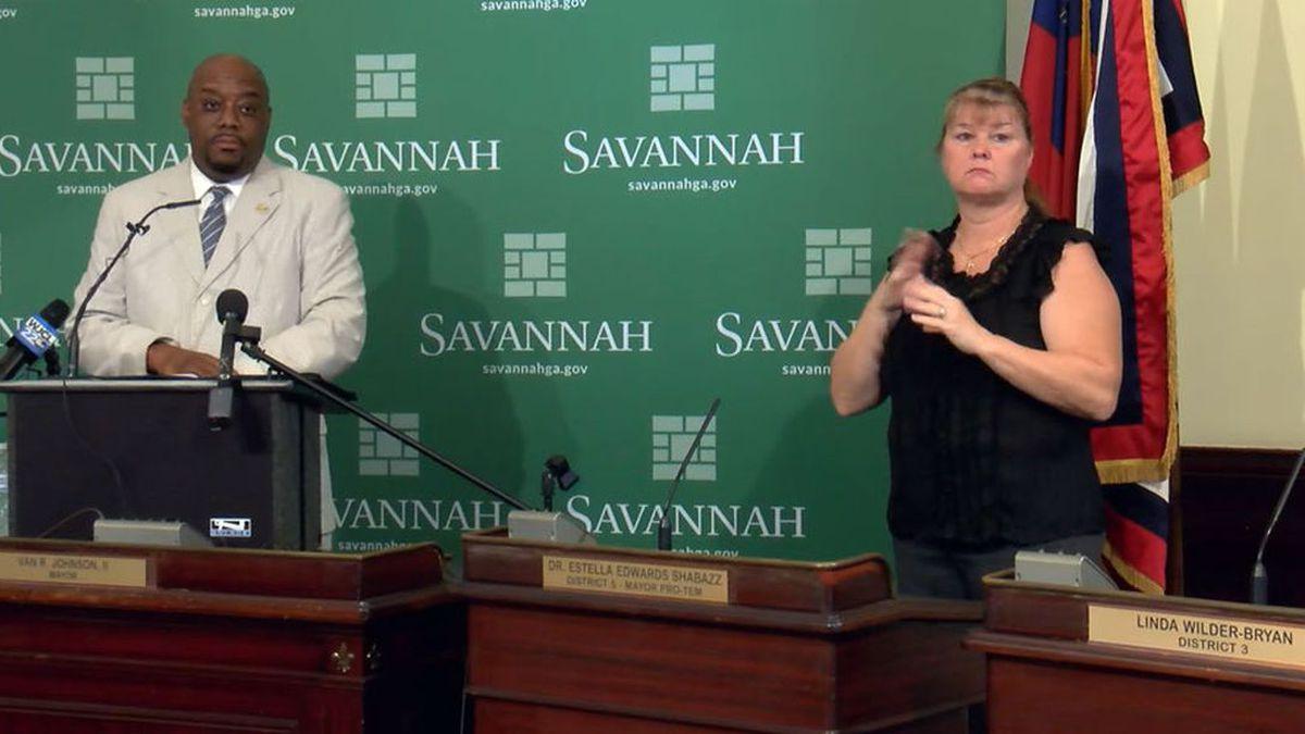 Savannah Mayor Van Johnson signed executive order requiring face masks in public,