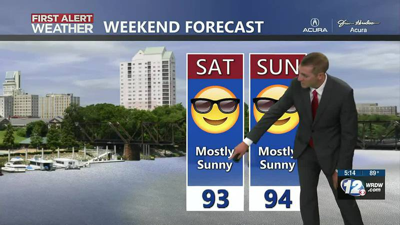 Rain chances look lower this weekend. Keep your outdoor plans!