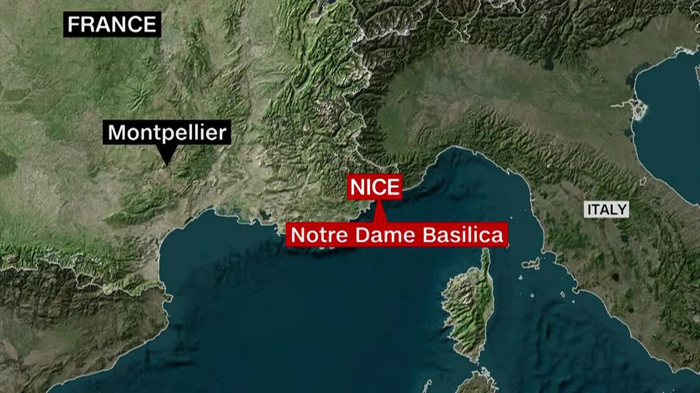 Police in the French city of Nice are responding to a 'terror attack' in the Notre Dame basilica.