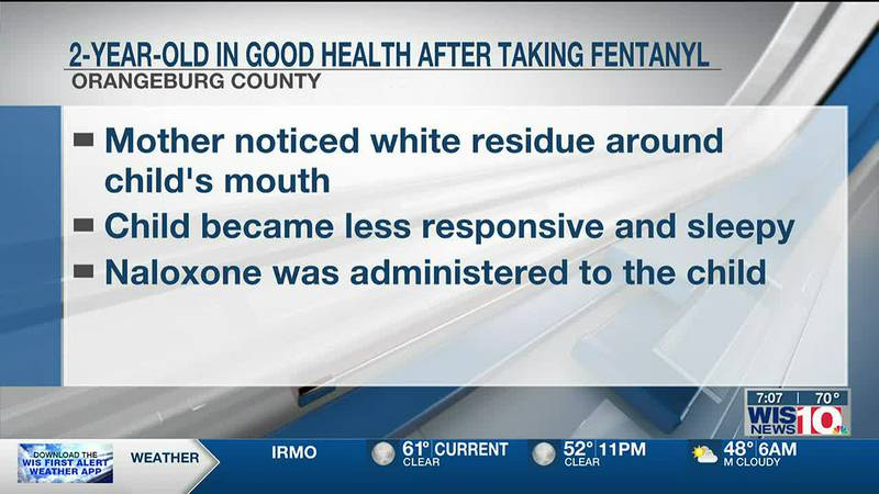 2-year-old Orangeburg boy tests positive for fentanyl; mother says child may have found...