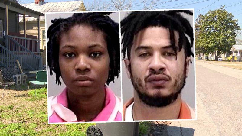 From left: Salena Scott, 21, and Tyrone Scott, 34
