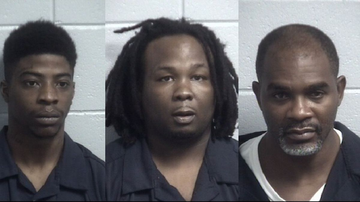 (From left to right) Marquis Williams, 24, Jaquan Tyrique Jackson, 22, and Byron Dwayne Felder,...