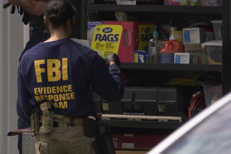 The FBI was on scene this afternoon at a home in North Augusta.